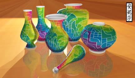 DA 16th Birthday Vases - Version 1