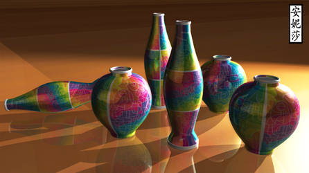 DA 16th Birthday Vases - Version 2
