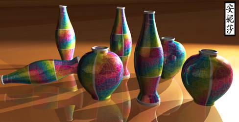 DA 16th Birthday Vases - Version 2, Render 2