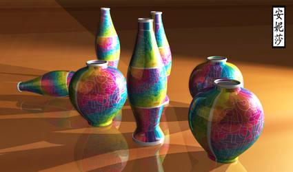 DA 16th Birthday Vases - Version 2, Render 3