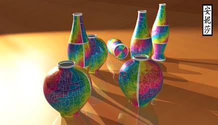 DA 16th Birthday Vases - Version 2, Render 4