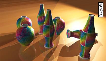 DA 16th Birthday Vases - Version 2, Render 5