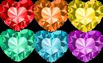 Crystal Heart Set 1