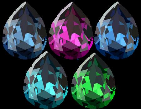 Tear Drop Crystals Set 1