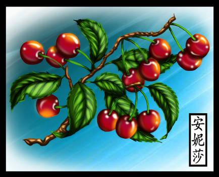 Graphicsfairy's  Cherries - Coloured