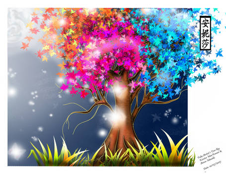 Kristen MacKenzie's Fake Artist's Tree - Coloured