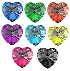 Realistic Glass Heart Crystals 2