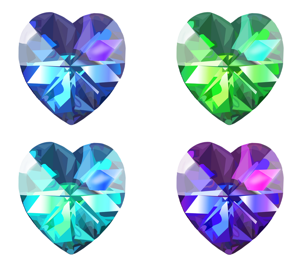 Realistic Heart Crystals 1