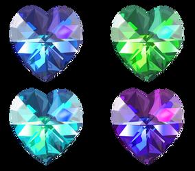 Realistic Heart Crystals 1