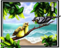 Birds by TheUFOSareKawaii - Coloured
