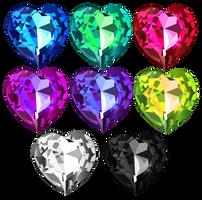 Shiny Heart Crystals 1