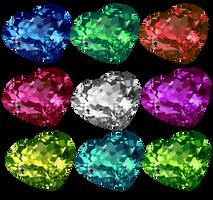 Shiny Heart Crystals 2