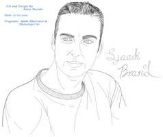 (Admin/Mod) Sjaak Brand Lineart Portrait