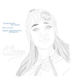 Alsnisokay (Allison) Lineart Portrait