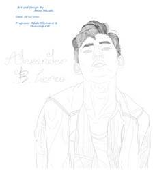 Alexander B Lerio Lineart Portrait