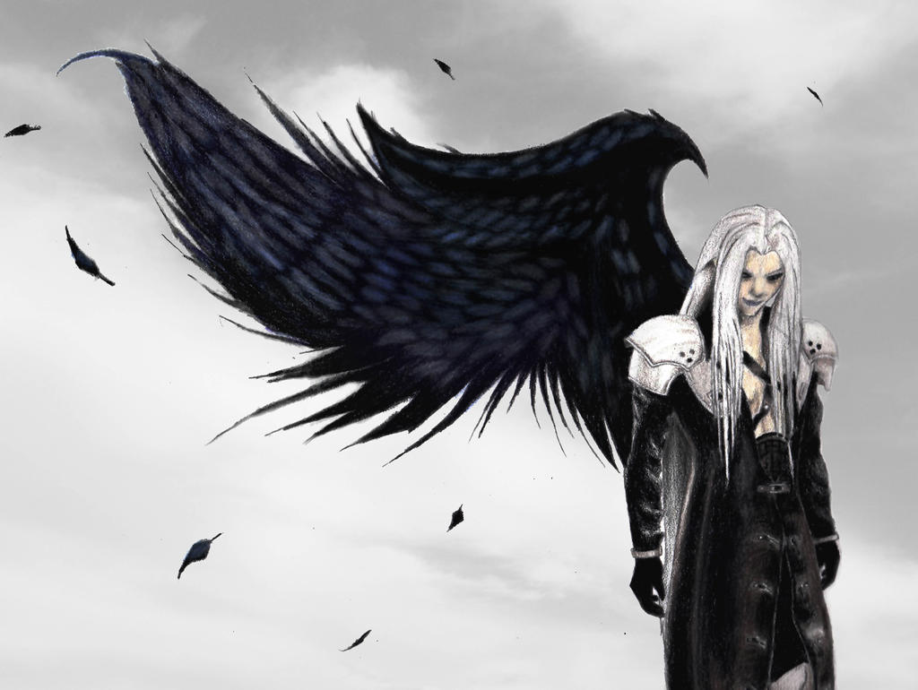 Sephiroth Wing Sephiroth Colored by ellyabby