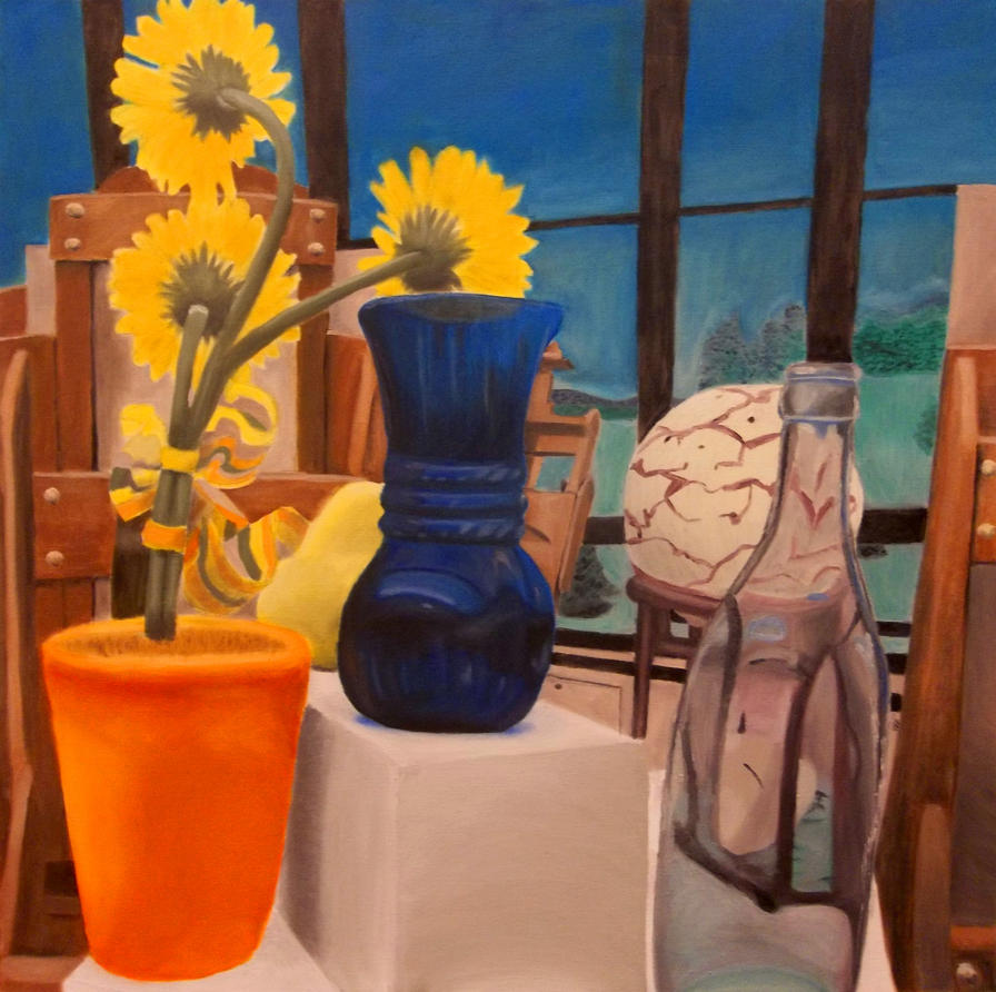 Class Room Still Life Painting by ellyabby