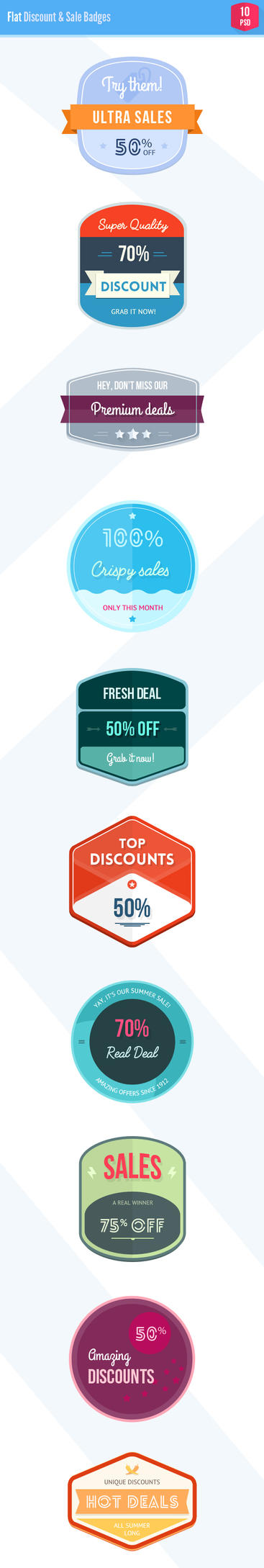 Flat Sale and Discount badges by loreleyyy