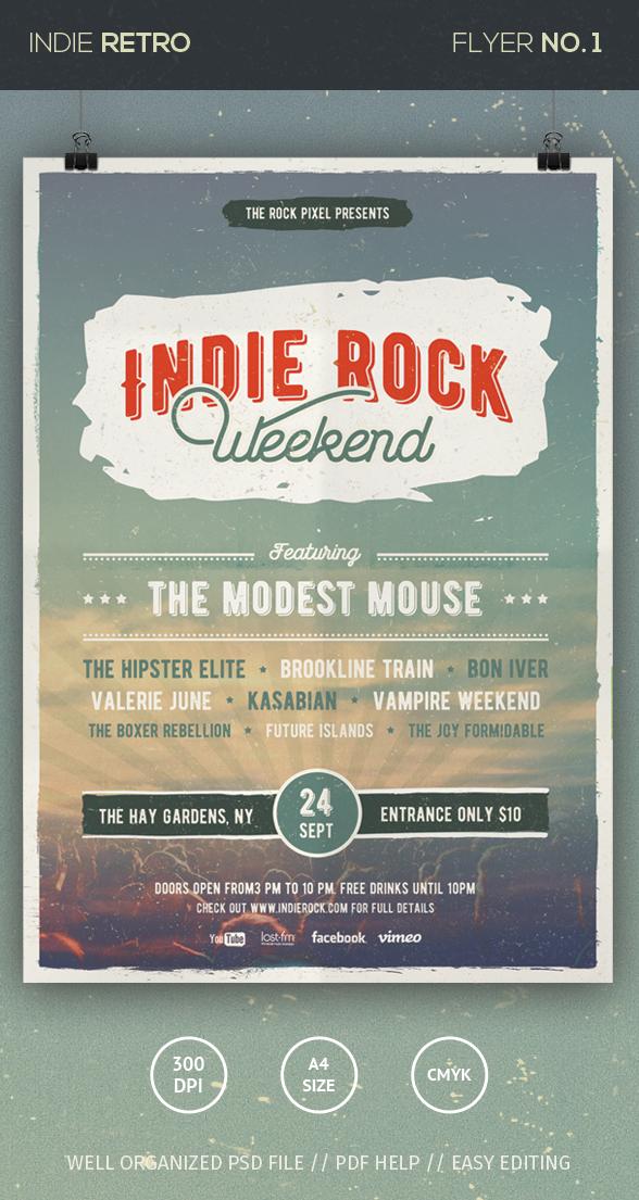 Indie Rock Flyer by loreleyyy
