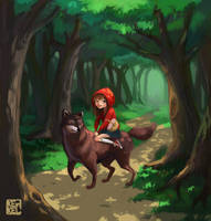 Little red riding hood by Kekel