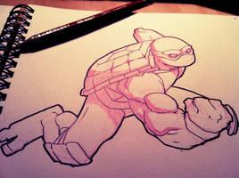 Sketch: Turtle 01 by HughFreeman