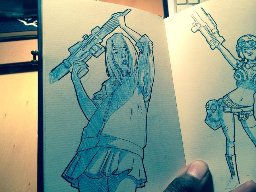 Sketchbook: 005 by HughFreeman