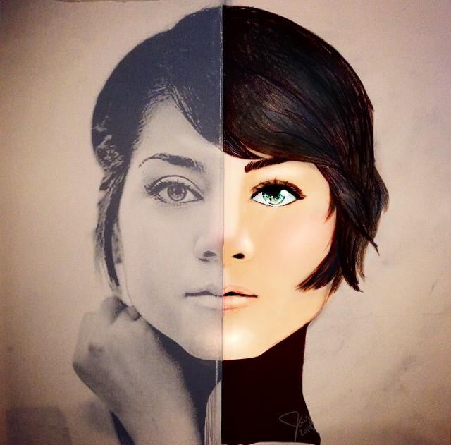 Portrait Attempt #2 - Digitalized Color by Jocyhope