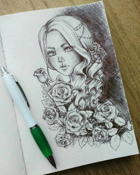 #4 Lady in roses