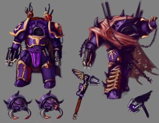 [Gift] Lord Aris Solomon possessed armor design by N1cknameHere