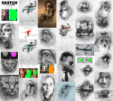 Sketch Photoshop Action (With 3D Pop Out Effect) by GraphicAssets
