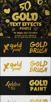 50 Gold Text Effects Bundle