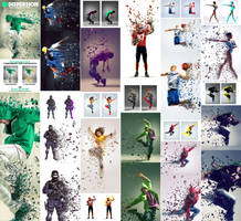 3D Dispersion Photoshop Action by GraphicAssets