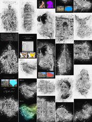 Graphitum - Charcoal Sketch Photoshop Action by GraphicAssets