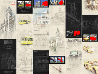 Architectum 2 - Sketch Tools Photoshop Action by GraphicAssets
