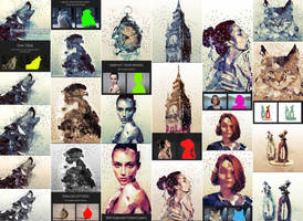 Geometry and Low Poly Art Photoshop Action by GraphicAssets