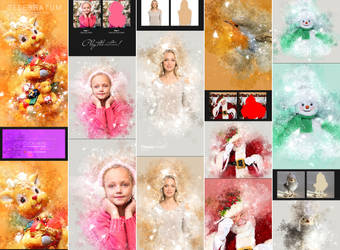 Celebratum - Christmas Photoshop Action by GraphicAssets
