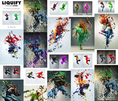 Liquify Photoshop Action by GraphicAssets