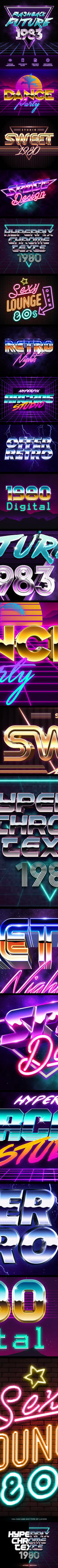 80's Style Text Generator by GraphicAssets