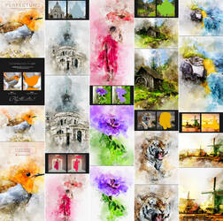 Perfectum 2 - Watercolor Artist Photoshop Action by GraphicAssets