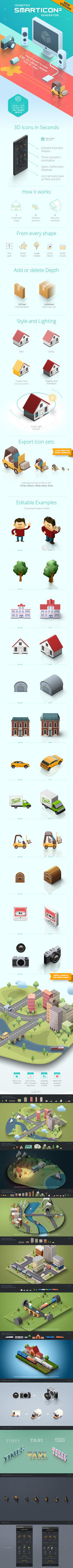 SmartIcon Generator 2 - Isometric 3D Icons by GraphicAssets