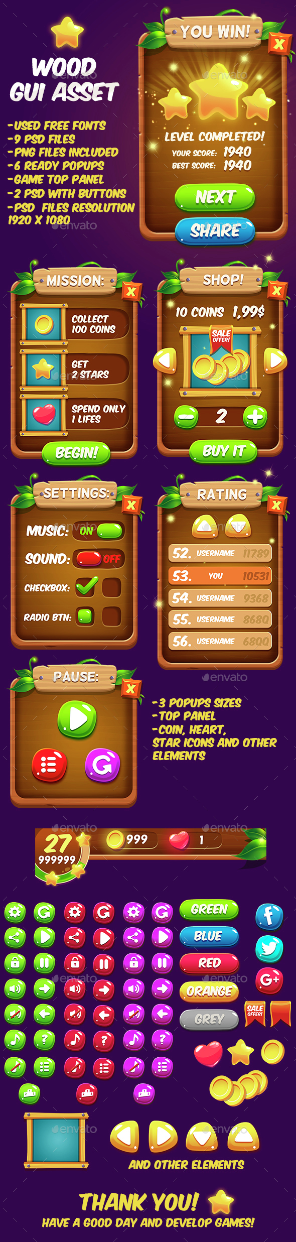 Fantasy Wood Game Interface by GraphicAssets on DeviantArt