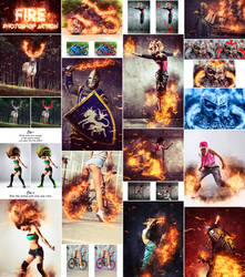 Fire Photoshop Action by GraphicAssets