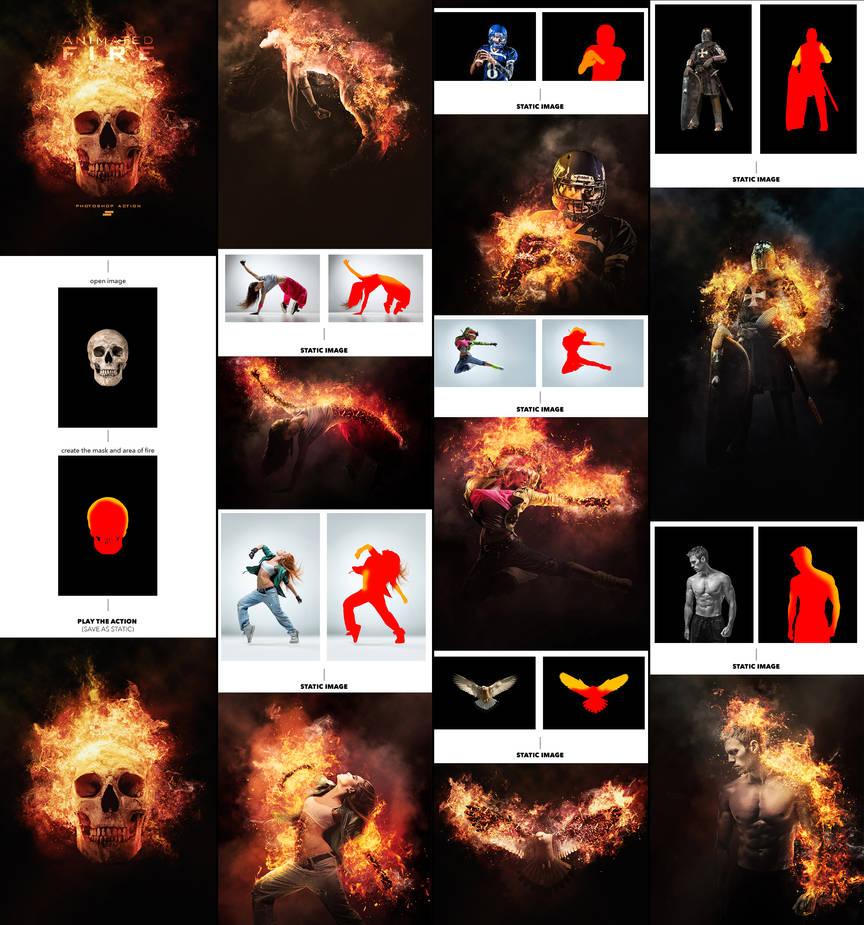 Gif Animated Fire Photoshop Action by GraphicAssets