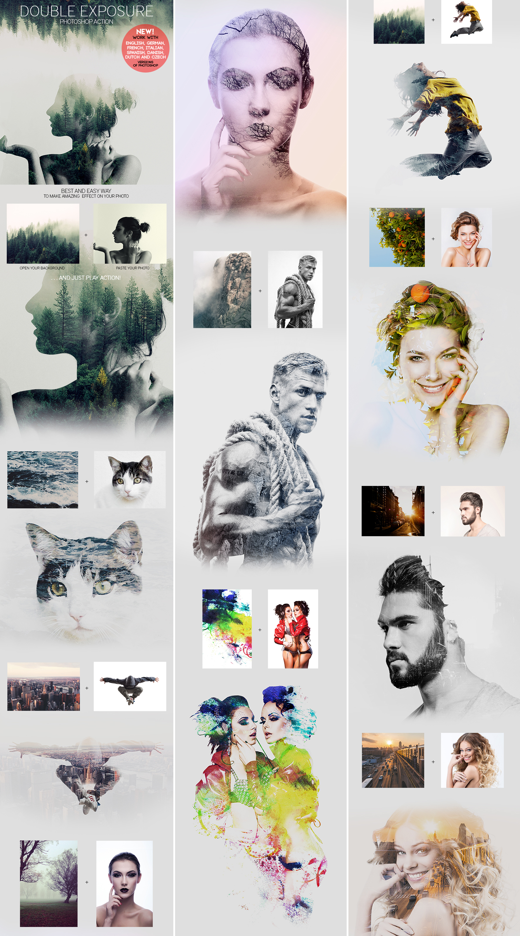 Double Exposure Photoshop Action by GraphicAssets on DeviantArt