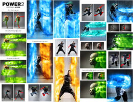 Power 2 Photoshop Action by GraphicAssets