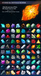 Stones and Crystals Icons