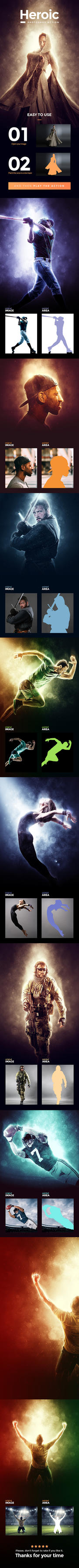 Heroic Photoshop Action by GraphicAssets