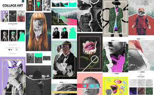 Collage Art Photoshop Action by GraphicAssets