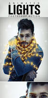 Animated Lights Photoshop Action by GraphicAssets