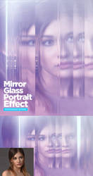 Mirror Glass Portrait Photoshop Action by GraphicAssets